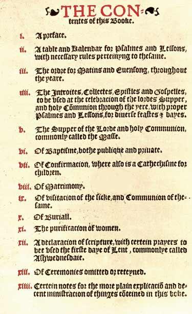 The 1549 Book Of Common Prayer