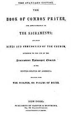The 1845 Standard of the 1789 U  S  Book of Common Prayer